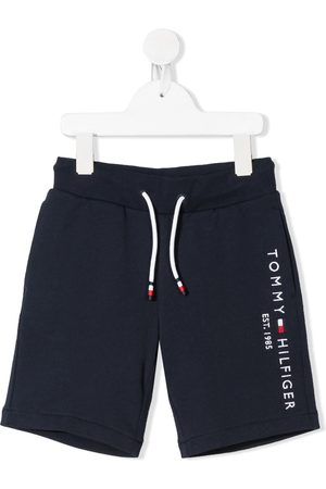 Tommy Hilfiger Boys Shorts - Embroidered logo cotton shorts