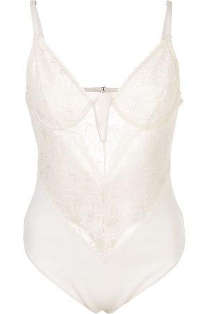 FLEUR DU MAL Women Bodies - Gardenia lace bodysuit