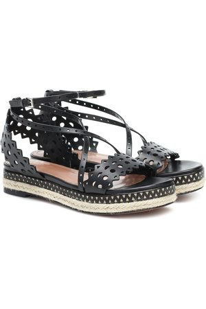Alaïa Leather espadrille sandals