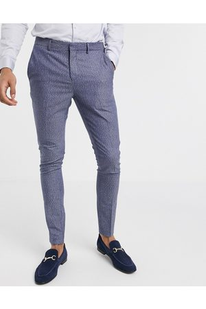 Selected Men Slim Trousers - Skinny fit stretch suit trousers in fleck