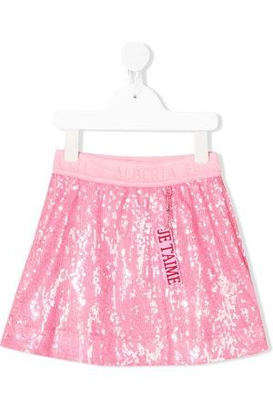 Alberta Ferretti Sequin-embellished pull-on skirt