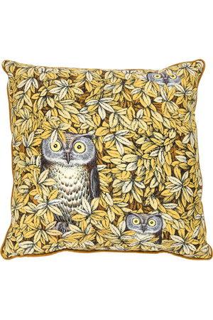 FORNASETTI Owl print pillow