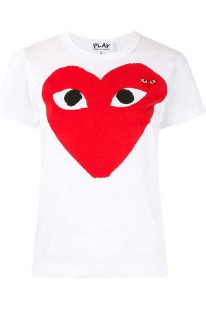 Comme des Garçons Women Short Sleeve - Heart print logo patch T-shirt