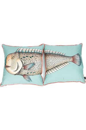 FORNASETTI Printed two-piece pillow set