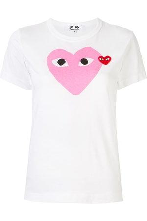Comme des Garçons Women Short Sleeve - Logo-patch printed T-shirt