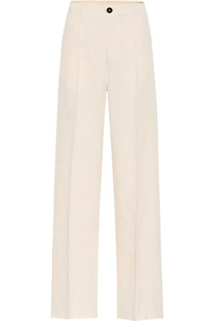 Jil Sander High-rise cotton and silk pants