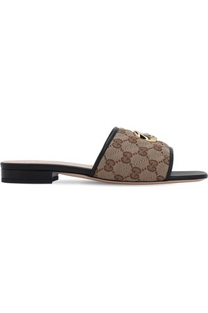 Gucci 10mm Jolie Quilted Canvas Sandals