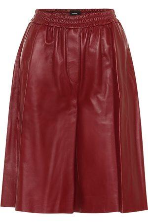 Joseph Tomy leather Bermuda shorts