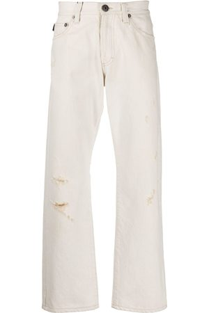 Gianfranco Ferré 1990s ripped loose jeans
