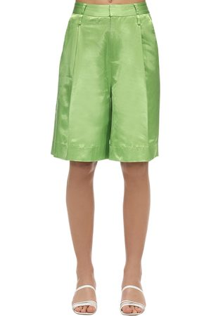 Staud Women Shorts - Satin Wide Leg Shorts