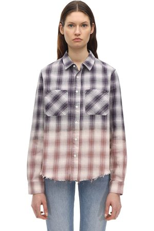 AMIRI Degradé Lurex Plaid Flannel Shirt