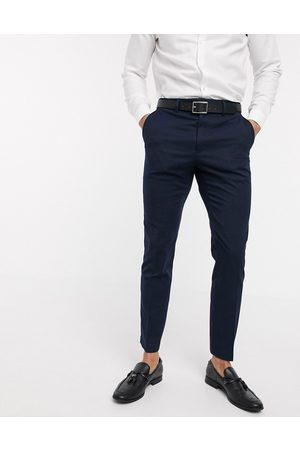 French Connection Men Slim Trousers - Wedding slim fit flannel suit trousers