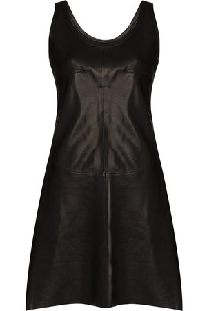 Helmut Lang Sleeveless lambskin mini dress