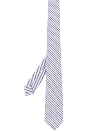 Thom Browne Striped seersucker tie