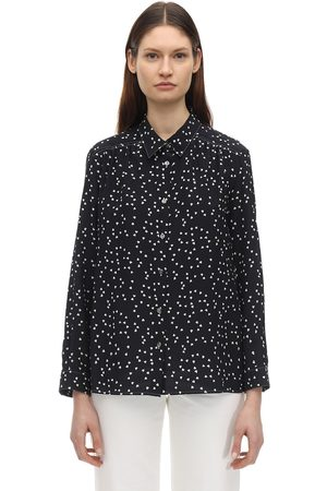 A.P.C Women Shirts - Sutton Printed Silk Crepe De Chine Shirt