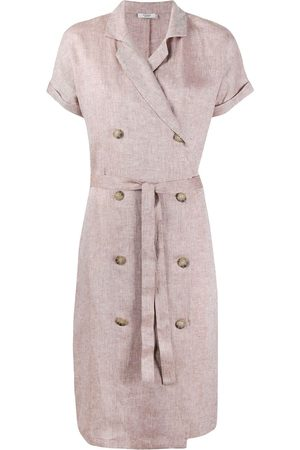 PESERICO SIGN Double breasted linen dress