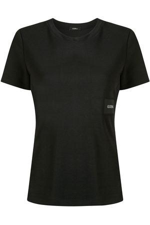 GOEN.J Women Short Sleeve - Logo patch T-shirt
