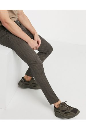 River Island Men Slim Trousers - Ultra skinny smart trousers in check