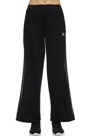 adidas Wide Leg Pants W/ Lace Side Bands