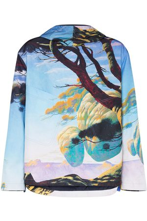 VALENTINO Floating Island graphic-print hooded parka