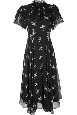 Macgraw Flight Bird Print dress