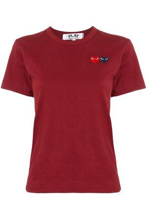 Comme des Garçons Women Short Sleeve - Logo embroidered crew neck T-shirt