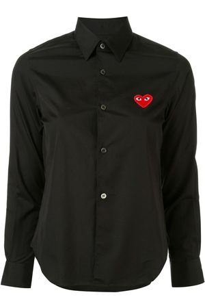 Comme des Garçons Women Long Sleeve - Logo embroidered plain shirt
