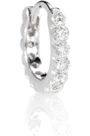 Maria Tash Women Earrings - Diamond Invisible Set Eternity 18kt gold earring