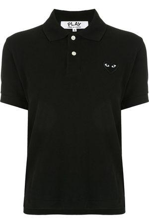 Comme des Garçons Logo-patch polo shirt