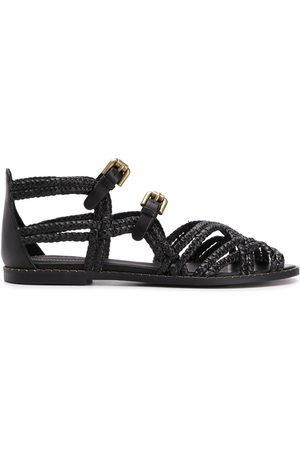 See by Chloé Woven buckled sandals