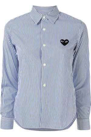 Comme des Garçons Women Long Sleeve - Striped-print branded shirt
