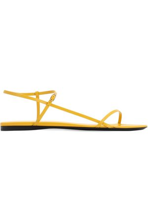 The Row 10mm Bare Leather Flat Sandals
