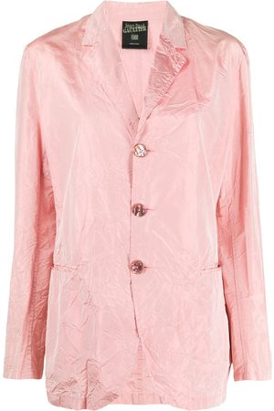 Jean Paul Gaultier 1990s creased straight-fit jacket