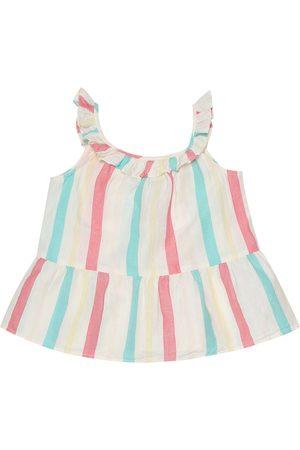 BONPOINT Ninili striped cotton and linen top