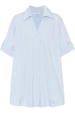 CO Tton-blend poplin shirt