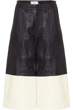Ami Leather culottes