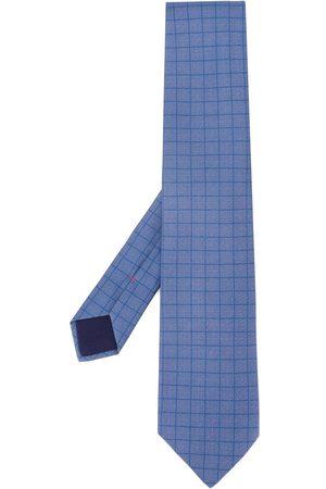 Hermès Men Neckties - 1990s pre-owned all-over square print tie