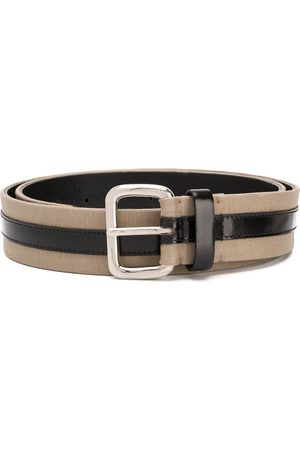 Gianfranco Ferré 1990 two-tone buckle belt
