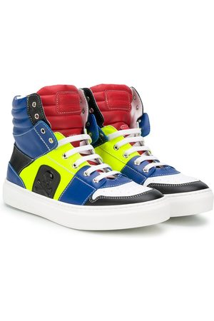 Philipp Plein Panelled high top sneakers