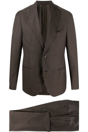 DELL'OGLIO Tonal stripe single breasted suit