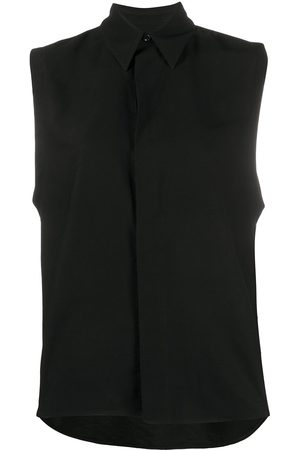 Ami WOMAN SLEEVELESS SHIRT WITH INVISIBLE BUTTON PLACKET