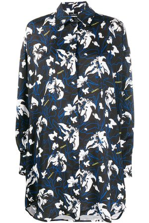 MARCELO BURLON Abstract floral print shirt