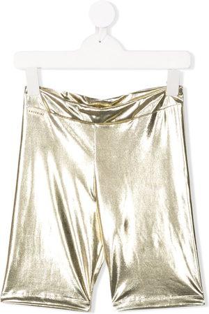 Le pandorine Metallic biker shorts