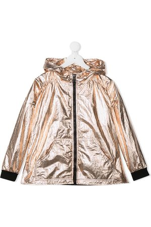 Le pandorine Girls Rainwear - Metallized hooded jacket