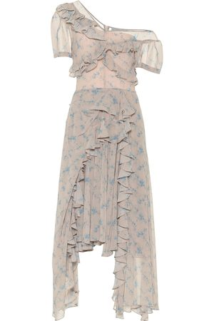 THORNTON BREGAZZI Floral stretch-crêpe midi dress