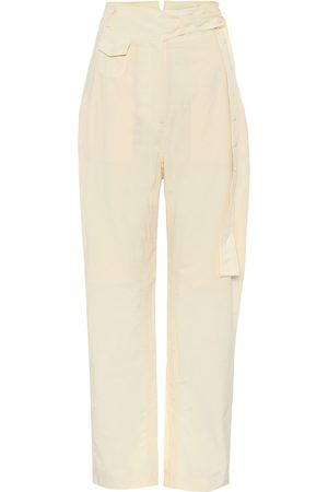 Low Classic Women Trousers - High-rise straight cotton pants