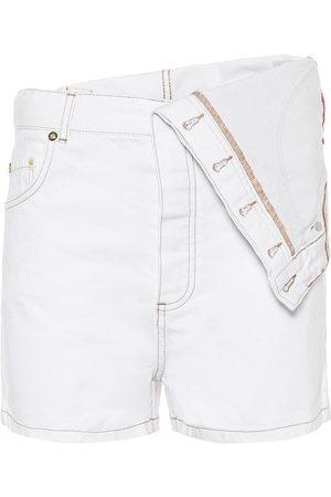 Y / PROJECT Asymmetric high-rise denim shorts