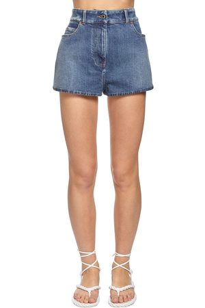 VALENTINO Back Go Logo Denim Shorts
