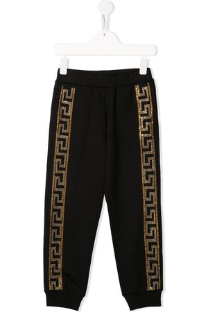 VERSACE Crystal-embellished joggers