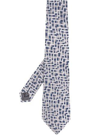 Gianfranco Ferré 1990s wavy print tie